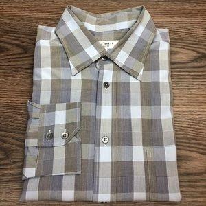 Ted Baker Blue, Black & Grey Plaid Shirt 5 or M